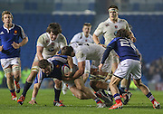 France Lucas Chouvet looks on during the Under 20s Six Nations Championship match between England and France at the American Express Community Stadium, Brighton and Hove, England on 20 March 2015. Photo by Phil Duncan.