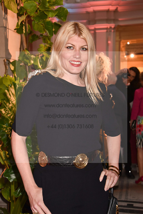 "Meredith Ostrom at the opening of ""Frida Kahlo: Making Her Self Up"" Exhibition at the V&A Museum, London England. 13 June 2018."