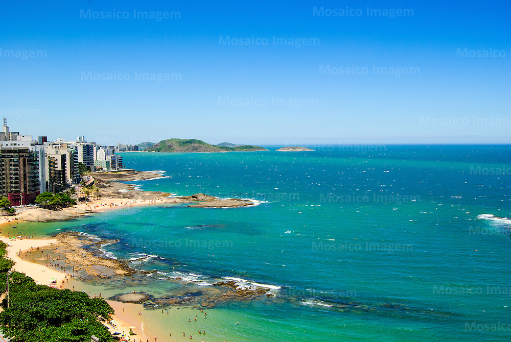 Brasil - Guarapari - Espirito Santo - Vista da Praia das Castanheira e Praia dos Namorados no Centro de Guarapari - Foto: Rafaela Laiola/ Mosaico Imagem