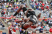 "JUNE 01 2012:  during the 2012 IHSAA Girls State Track and Field Finals held at The Robert C. Haugh Track & Field Complex at E.C. ""Billy"" Hayes Track on the campus of Indiana University."