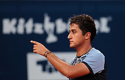 05.08.2015, Sportpark, Kitzbuehel, AUT, ATP World Tour, Generali Open, Hauptrunde, Einzel, im Bild Nicolas Almagro (ESP) // Nicolas Almagro of Spain reacts during men' s singles Main round match of the Generali Open tennis tournament of the ATP World Tour at the Sportpark in Kitzbuehel, Austria on 2015/08/05. EXPA Pictures © 2015, PhotoCredit: EXPA/ JFK