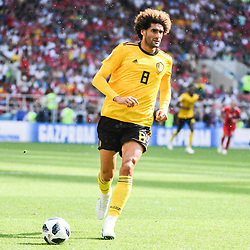 Marouane Fellaini of Belgium during the FIFA World Cup Group G match between Belgium and Tunisia at Spartak Stadium on June 23, 2018 in Moscow, Russia. (Photo by Anthony Dibon/Icon Sport)
