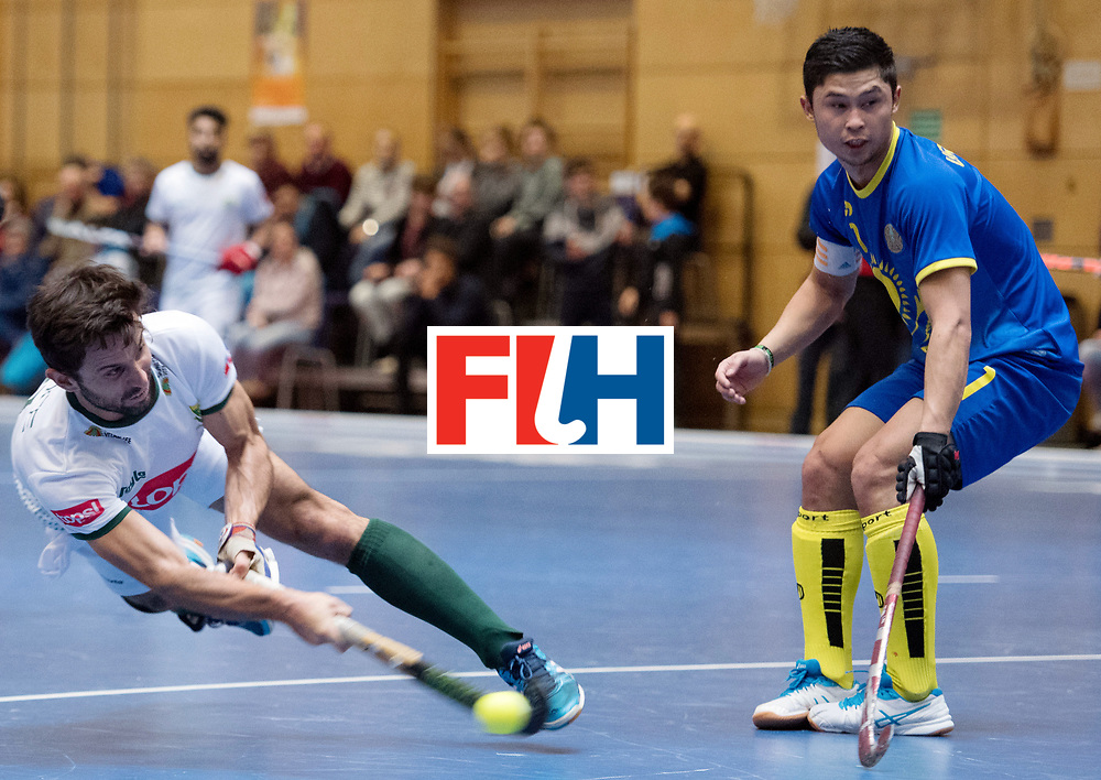 BERLIN - Indoor Hockey World Cup<br /> Kazakhstan - South Africa<br /> foto: Jethro Eustice <br /> WORLDSPORTPICS COPYRIGHT FRANK UIJLENBROEK