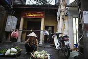 "Hanoi, Vietnam. March 11th 2007..A street scene in ""Pho Co"", the old quarter of Hanoi."