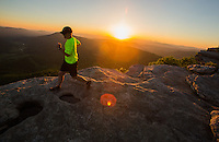 Back packing on Mcafee knob on the appalachain trail.
