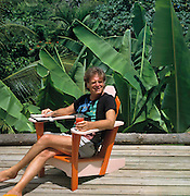 Chris Blackwell at home in Jamaica
