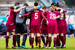 Players of  NK Triglav Kranj during football match between NK Triglav Kranj and ND Gorica in Round #24 of Prva Liga Telekom Slovenije 2017/18, on March 18, 2018 in Sportni park Kranj, Kranj, Slovenia. Photo by Ziga Zupan / Sportida