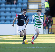 26th December 2017, Dens Park, Dundee, Scotland; Scottish Premier League football, Dundee versus Celtic; Dundee's Cammy Kerr and Celtic's Michael Johnston