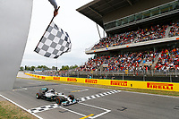 arrivee _ finish line HAMILTON Lewis (Gbr) Mercedes Gp Mgp W05 action  during the 2014 Formula One World Championship, Grand Prix of Spain from may 8 to 11th 2014, in Barcelona, Spain. Photo Frederic Le Floc'h / DPPI