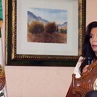 METEPEC, México.- Carolina Monroy del Mazo, secretaría de Desarrollo Económico, señaló que el objetivo de reunirse con empresarios argentinos es estimular el agrupamiento de empresas que poseen características similares de producción a las de la entidad mexiquense, por lo que a finales de año estarán visitando Argentina para dar a conocer la producción que se hace en el Estado de México. Agencia MVT / José Hernández. (DIGITAL)