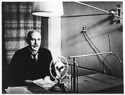 Ernest Rutherford (1871-1937) New Zealand atomic physicist during a visit home to New Zealand in 1926. Photograph by courtesy of the Cawthorn Institute, Nelson, New Zealand.