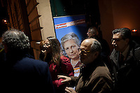 1 March 2012- Palermo, Italy: Happy Hour at the Corte Sammuzzo in Palermo for primaries candidate Rita Borsellino. Rita Borsellino, 66, mayor candidate in the centre-left primary campaing for the local elections of the city of Palermo, Sicily. ### 1 marzo 2012 - Palermo, Italia.Happy Hour alla Corte Sammuzzo a Palermo per la candidata Rita Borsellino. Rita Borsellino, 66 anni, è il candidato sindaco alle primare del centrosinistra per le elezioni amministrative della città di Palermo, Sicilia.
