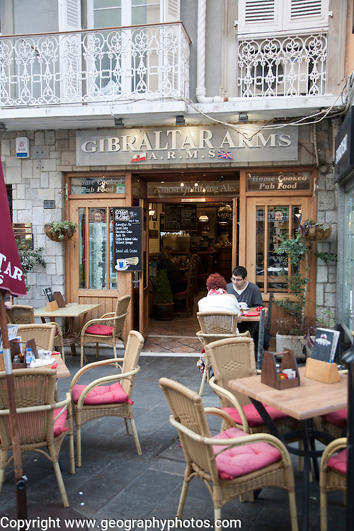 Gibraltar Arms pub, Gibraltar, British overseas territory in southern Europe