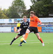 Dundee United's Harry Soutar clears from Dundee's Josh Skelly - Dundee v Dundee United under 20s<br /> <br />  - &copy; David Young - www.davidyoungphoto.co.uk - email: davidyoungphoto@gmail.com