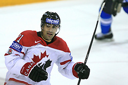 Jamal Mayers of Canada celebrates at ice-hockey game Canada vs Finland at Qualifying round Group F of IIHF WC 2008 in Halifax, on May 12, 2008 in Metro Center, Halifax, Nova Scotia, Canada. Canada won 6:3. (Photo by Vid Ponikvar / Sportal Images)