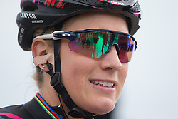 Pauline Ferrand-Prevot (FRA) of CANYON//SRAM Racing smiles after the Amstel Gold Race Ladies Edition - a 121.6 km road race, between  Maastricht and Valkenburg on April 16, 2017, in Limburg, Netherlands.