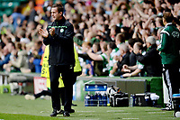 19/08/15 UEFA CHAMPIONS LEAGUE PLAY-OFF 1ST LEG<br /> CELTIC V MALMO<br /> CELTIC PARK - GLASGOW<br /> Celtic manager Ronny Deila in the dugout.