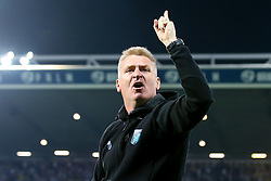 Aston Villa manager Dean Smith celebrates after his side win on penalties against West Bromwich Albion to book their place in the Sky Bet Championship Playoff Final - Mandatory by-line: Robbie Stephenson/JMP - 14/05/2019 - FOOTBALL - The Hawthorns - West Bromwich, England - West Bromwich Albion v Aston Villa - Sky Bet Championship Play-off Semi-Final 2nd Leg
