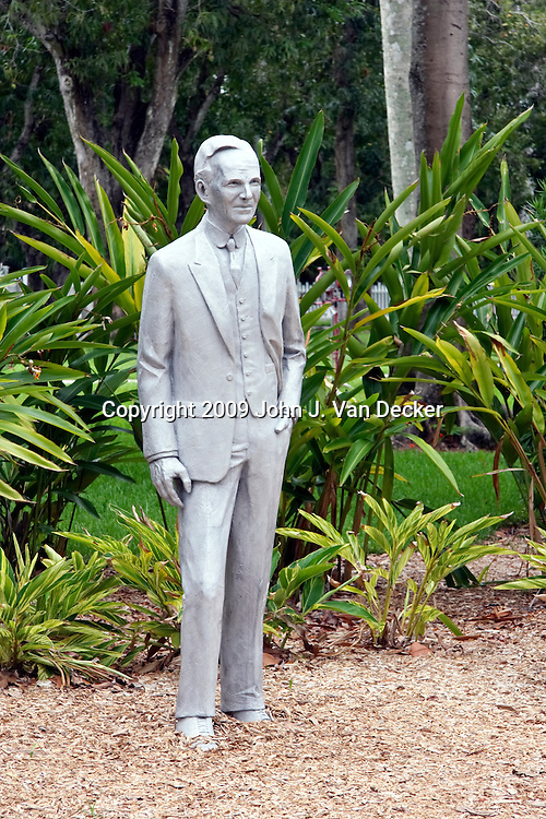 Statue of Henry Ford at Ford Winter Estate, Fort Myers Florida