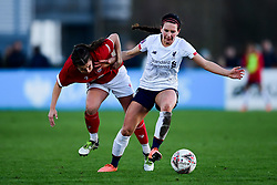 Megan Wynne of Bristol City Women challenges Leighanne Robe of Liverpool Women - Mandatory by-line: Ryan Hiscott/JMP - 19/01/2020 - FOOTBALL - Stoke Gifford Stadium - Bristol, England - Bristol City Women v Liverpool Women - Barclays FA Women's Super League