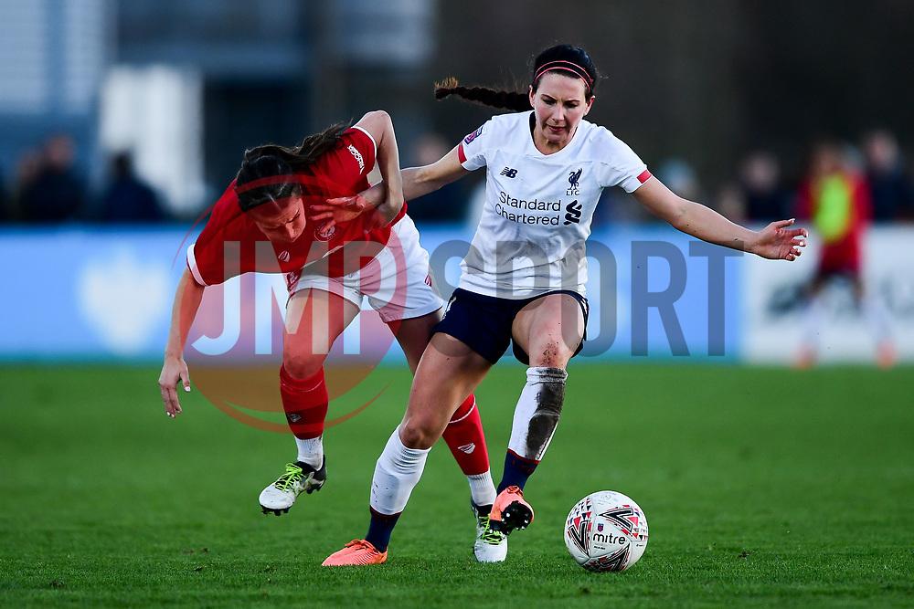 Megan Wynne of Bristol City Women challenges Leighanne Robe of Liverpool Women - Mandatory by-line: Ryan Hiscott/JMP - 19/01/2020 - FOOTBALL - Stoke Gifford Stadium - Bristol, England - Bristol City Women v Liverpool Women - Barclays FA Women's Super League
