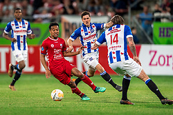 12-05-2018 NED: FC Utrecht - Heerenveen, Utrecht<br /> FC Utrecht win second match play off with 2-1 against Heerenveen and goes to the final play off / Urby Emanuelson #18 of FC Utrecht, Marco Rojas #7 of SC Heerenveen