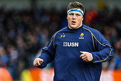 Ethan Waller of Worcester Warriors during the pre match warm up - Mandatory by-line: Craig Thomas/JMP - 10/02/2018 - RUGBY - Sandy Park Stadium - Exeter, England - Exeter Chiefs v Worcester Warriors - Aviva Premiership