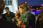 MARGOT OOGHE, Absolut Art Bureau Dinner at Base 13. Documenta ( 13 ), Kassel, Germany. 14 September 2012.