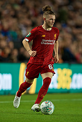 MILTON KEYNES, ENGLAND - Wednesday, September 25, 2019: Liverpool's Harvey Elliott during the Football League Cup 3rd Round match between MK Dons FC and Liverpool FC at Stadium MK. (Pic by David Rawcliffe/Propaganda)