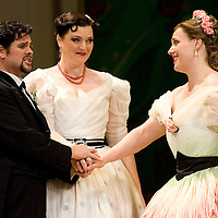 Picture shows :  Kate Valentine (centre) as Karolina and Jane Irwin (far right) as Ane?ka with David Pomeroy as Ladislav Podhajsky...Picture  ©  Drew Farrell Tel : 07721 ?735041.THE TWO WIDOWS by  Smetana.A SCOTTISH OPERA AND EDINBURGH INTERNATIONAL FESTIVAL CO-PRODUCTION.Premiering at the Edinburgh International Festival, this brand new production stars Scottish soprano Kate Valentine and internationally renowned mezzo Jane Irwin..The directorial partnership between Tobias Hoheisel and Imogen Kogge transforms this delicate comedy into something that digs deeper without losing its inherent charm. Francesco Corti conducts this, his first production as Music Director of Scottish Opera...Kate Valentine as Karolina Záleská.Jane Irwin as Ane?ka Miletinská?Nicholas Folwell as Mumlal?David Pomeroy as Ladislav Podhajsky?Ben Johnson as Toník, a peasant?Rebecca Ryan as Lidka, a maid.?Conductor..Francesco Corti.Directors ..         Tobias Hoheisel & Imogen Kogge.Designer..         Tobias Hoheisel.Lighting..         Peter Mumford.Choreographer  .Kally Lloyd-Jones.Dramaturg..Micaela von Marcard..Performances :.Edinburgh Festival Theatre?9 ? 11 ? 12  August?Theatre Royal, Glasgow?10 ?  14 ? 17 ? October?Note to Editors:  This image is free to be used editorially in the promotion of Scottish Opera and The Edinburgh International Festival. Without prejudice ALL other licences without prior consent will be deemed a breach of copyright under the 1988. Copyright Design and Patents Act  and will be subject to payment or legal action, where appropriate..Further further information please contact Kerryn Hurley Scottish Opera Press Manager t:   0141 242 0511. Or contact The Edinburgh International Festival Press Office  +44 (0)131 473 2020.