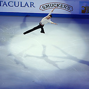 Jeremy Abbott is seen during the Smucker's Skating Spectacular at the TD Garden on January 12, 2014 in Boston, Massachusetts.