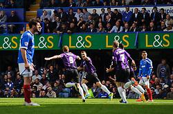 Matt Harrold (ENG) of Bristol Rovers celebrates scoring a goal to level at 2-2 - Photo mandatory by-line: Rogan Thomson/JMP - 07966 386802 - 19/04/2014 - SPORT - FOOTBALL - Fratton Park, Portsmouth - Portsmouth FC v Bristol Rovers - Sky Bet Football League 2.