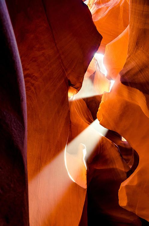 Light beam in Lower Antelope Canyon, Arizona