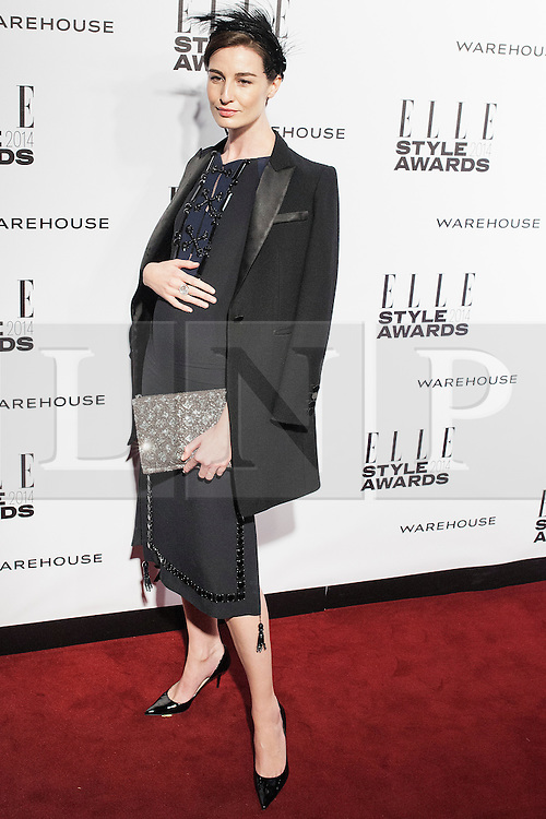 © Licensed to London News Pictures. 18/02/2014. London, UK. Erin O'Connor attends the ELLE Style Awards 2014 at One Embankment in central London. Photo credit : Andrea Baldo/LNP