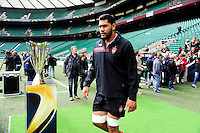 Romain TAOFIFENUA - 01.05.2015 - Captains' Run de Toulon avant la finale - European Rugby Champions Cup -Twickenham -Londres<br /> Photo : David Winter / Icon Sport