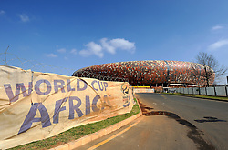 The construction site of Soccer City, the stadium venue for the 2010 South Africa FIFA World Cup in Johannesburg