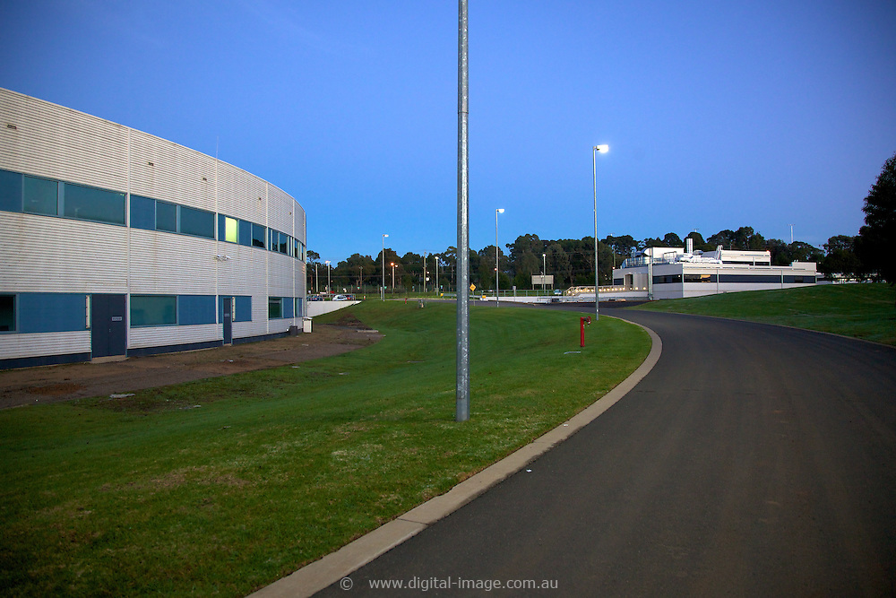 Main building of the Australian Synchrotron  with the Medical and Imaging Beamline building in the background