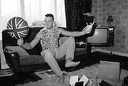 Gavin in Front Room with Balloon, 16 Hawthorne Road, High Wycombe, 1980s.