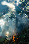 Late summer, early Autumn garden bonfire