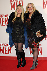 Vanessa Feltz & Daughter attends the UK Premiere of 'The Monuments Men' at Odeon Leicester Square , United Kingdom. Tuesday, 11th February 2014. Picture by Chris Joseph / i-Images