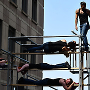 ON EDGE performs at GDIF - Dancing City at Canary Wharf, on 29 June 2019, London, UK.