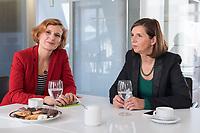 15 OCT 2019, BERLIN/GERMANY:<br /> Katja Kipping (L), Die Linke, Prteivorsitzende, und Katrin Goering-Eckardt (R), B90/Gruene, Fraktionsvorsitzende, wahrend einem Doppeninterview, Hauptstadtredaktion Rheinsche Post<br /> IMAGE: 20191015-01-012<br /> KEYWORDS: Göring-Eckardt