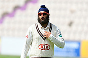 Amar Virdi of Surrey during the Specsavers County Champ Div 1 match between Hampshire County Cricket Club and Surrey County Cricket Club at the Ageas Bowl, Southampton, United Kingdom on 11 June 2018. Picture by Graham Hunt.