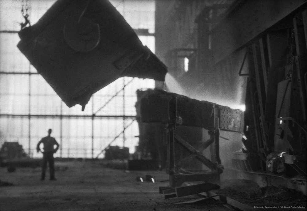 Pouring of Liquid Steel from Large Vat, SWB Bochum Stahlwerke, 1928