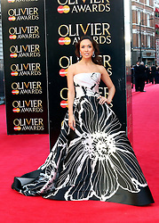 © Licensed to London News Pictures. 13/04/2014, UK. Myleene Klass, The Laurence Olivier Awards, Royal Opera House, London UK, 13 April 2014. Photo credit : Richard Goldschmidt/Piqtured/LNP