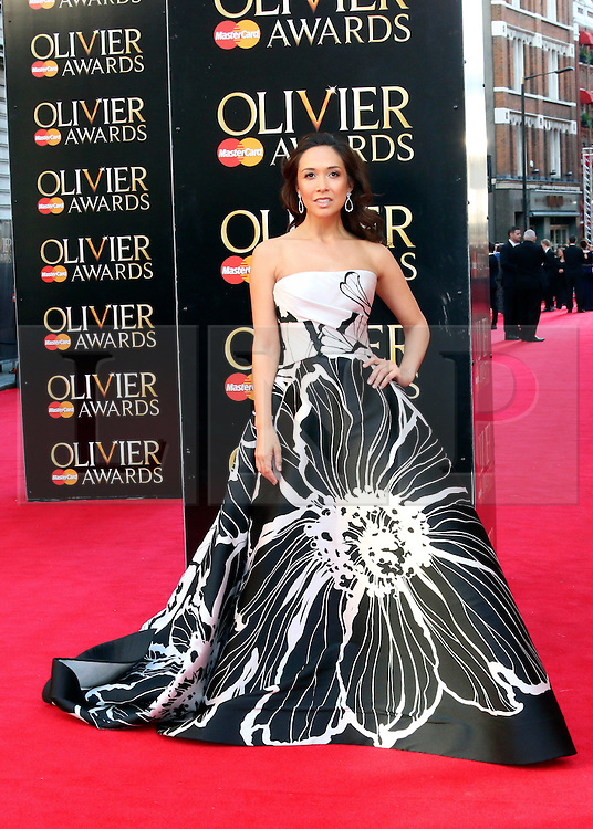 © Licensed to London News Pictures. 13/04/2014, UK. Myleene Klass, The Laurence Olivier Awards, Royal Opera House, London UK, 13 April 2014. Photo credit : Richard Goldschmidt/Piqtured/LNP