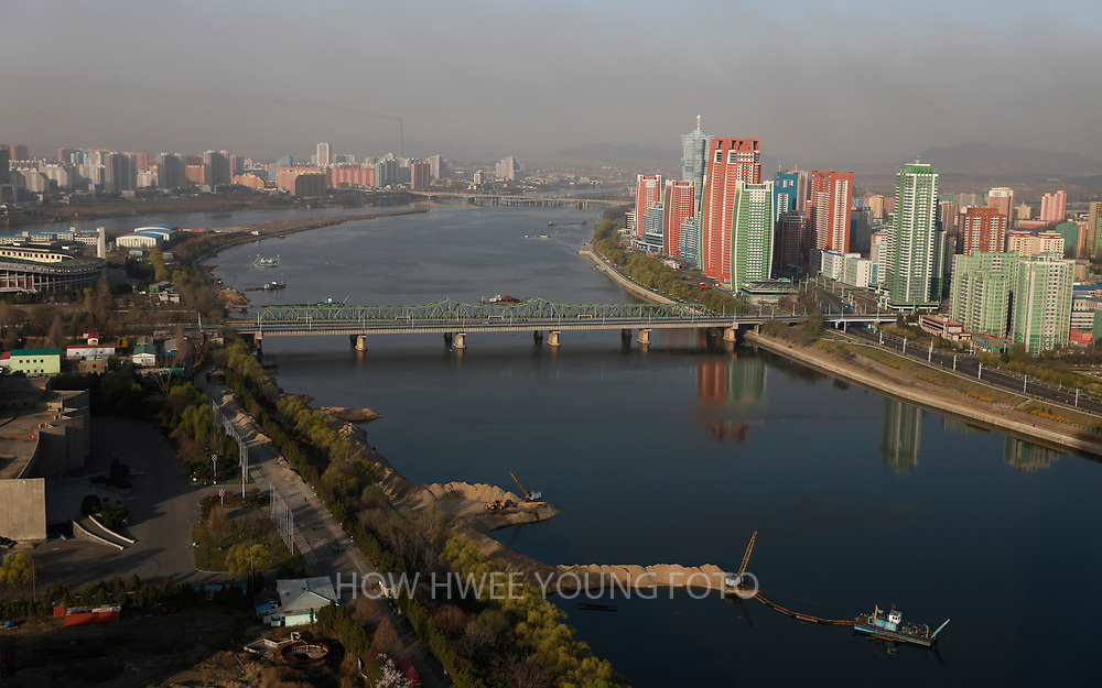A general view of the Taedong River in Pyongyang, North Korea, 12 April 2017. North Koreans prepare to celebrate the 'Day of the Sun Festival', 105th birthday anniversary of former North Korean supreme leader Kim Il-sung in Pyongyang on 15 April.