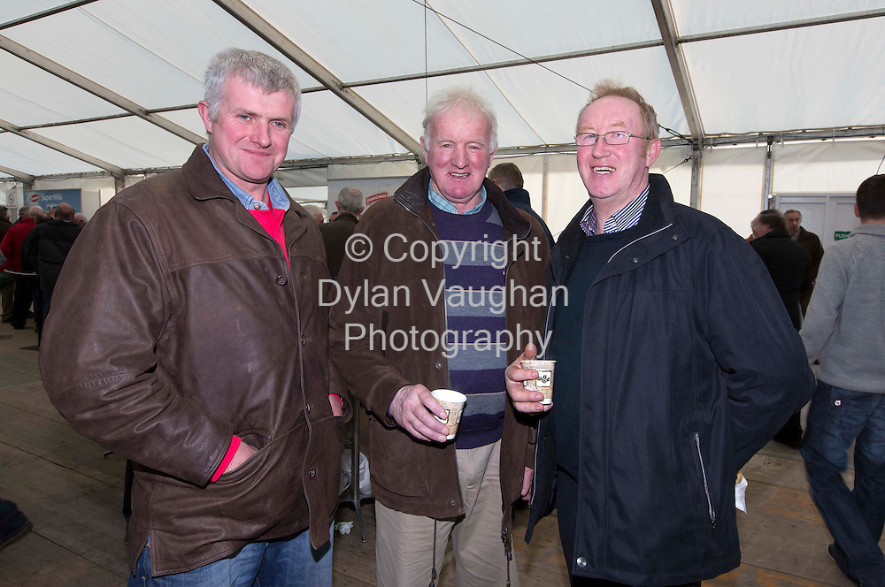Repro Free No Charge for Repro..28/11/12...Thomas Landy, Windgap, Michael Landy, Windgap and Tom Heffernan, Glenmore pictured at the shareholders vote at the Glanbia special meeting in Gowran Park Kilkenny yesterday..Picture Dylan Vaughan