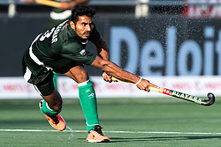 Mubashar Ali of Pakistan during the Champions Trophy match between the Netherlands and Pakistan on the fields of BH&BC Breda on June 26, 2018 in Breda, the Netherlands