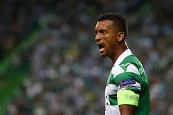 September 20, 2018 - Lisbon, Portugal - Sporting's forward Nani from Portugal reacts during the UEFA Europa League Group E football match Sporting CP vs Qarabag at Alvalade stadium in Lisbon, on September 20, 2018. (Credit Image: © Pedro Fiuza/NurPhoto/ZUMA Press)